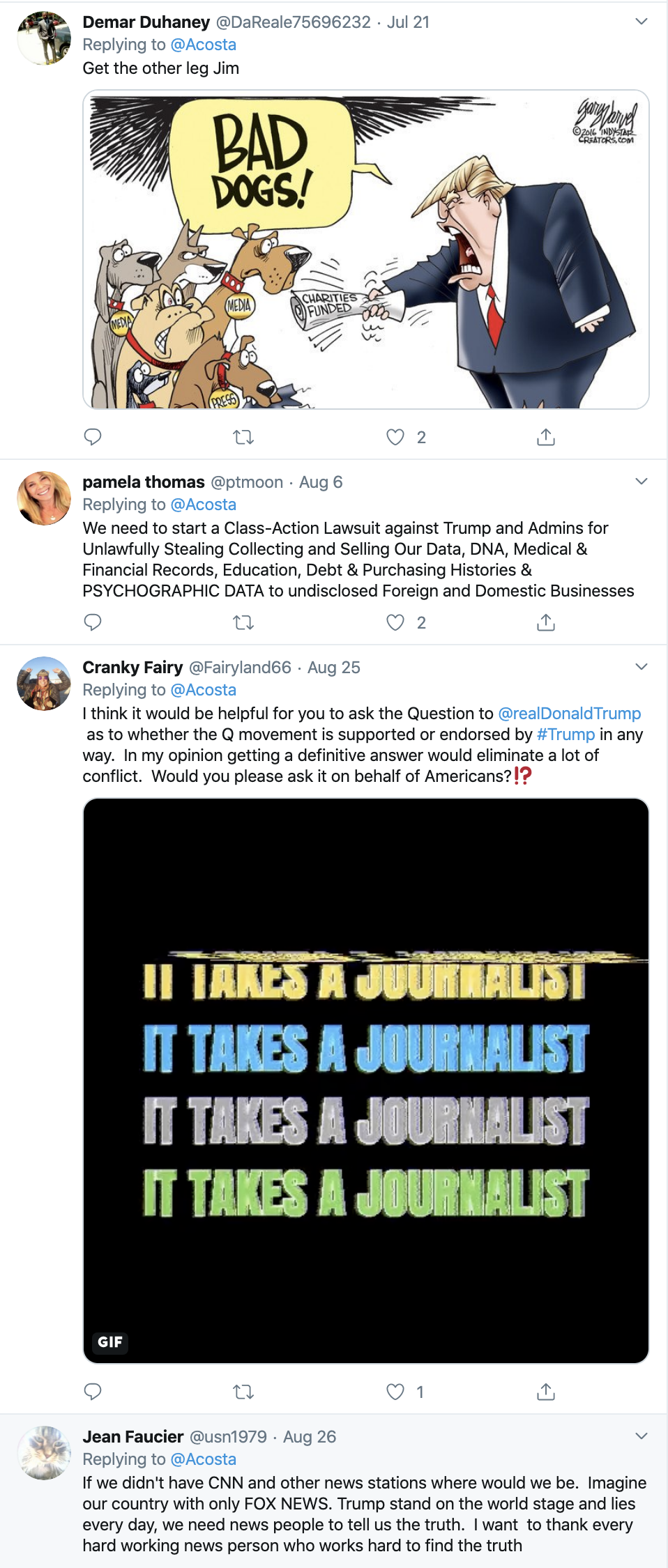 Screen-Shot-2019-10-17-at-1.37.47-PM Acosta Trolls Mulvaney With Thursday Tweet Shaming Corruption Crime Donald Trump Featured Media Politics Television Top Stories