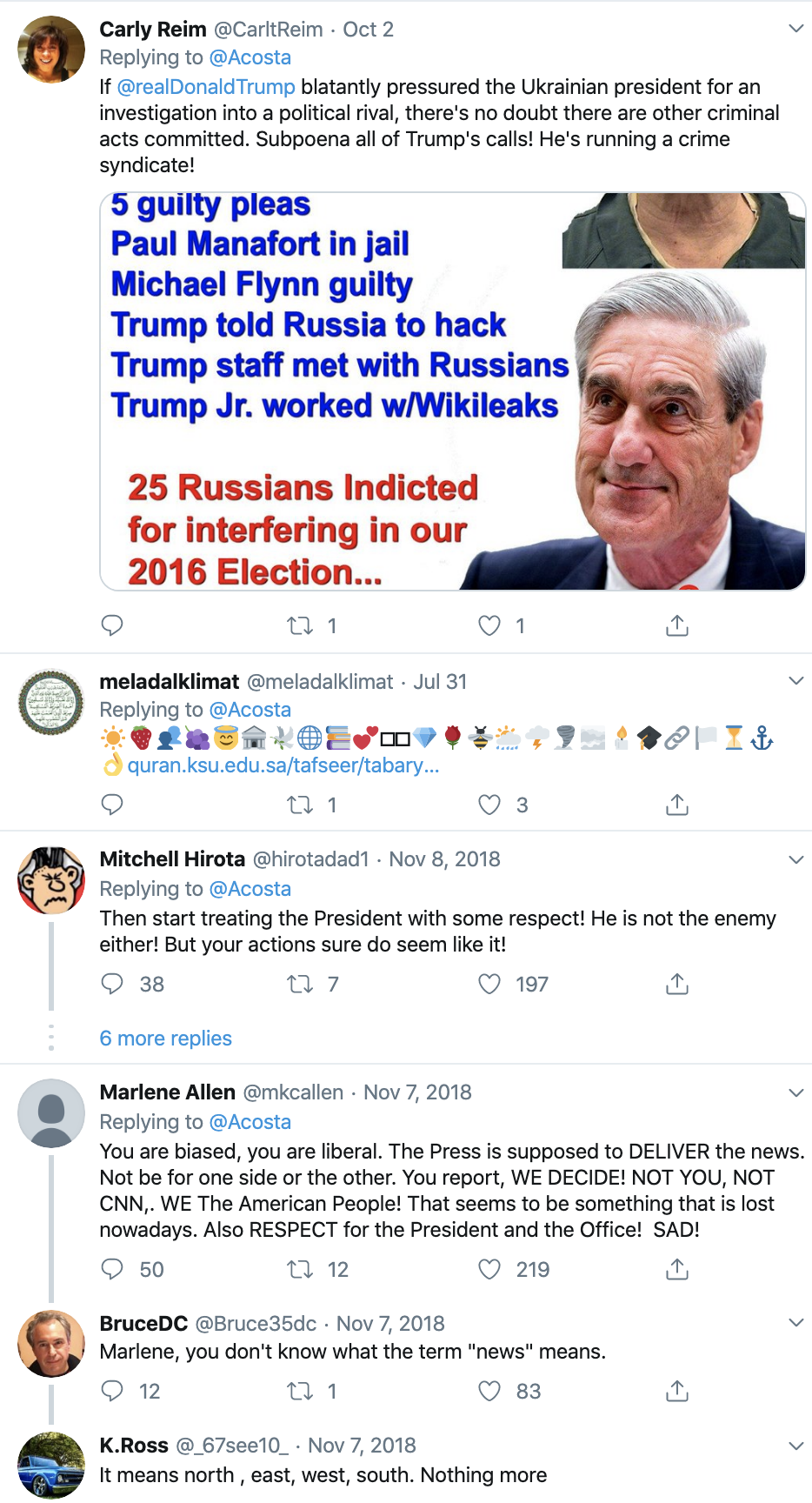 Screen-Shot-2019-10-17-at-1.38.18-PM Acosta Trolls Mulvaney With Thursday Tweet Shaming Corruption Crime Donald Trump Featured Media Politics Television Top Stories