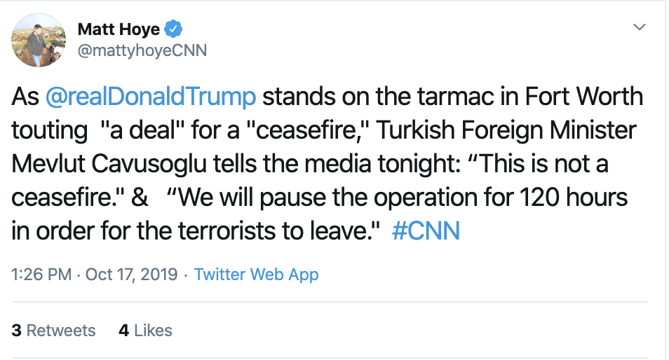 Screen-Shot-2019-10-17-at-1.45.34-PM Turkey Says No Ceasefire; Trump/Pence Lied Again Corruption Crime Donald Trump Election 2016 Election 2020 Featured Foreign Policy Military Politics Top Stories War