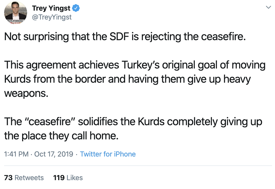 Screen-Shot-2019-10-17-at-2.15.00-PM Turkey Says No Ceasefire; Trump/Pence Lied Again Corruption Crime Donald Trump Election 2016 Election 2020 Featured Foreign Policy Military Politics Top Stories War