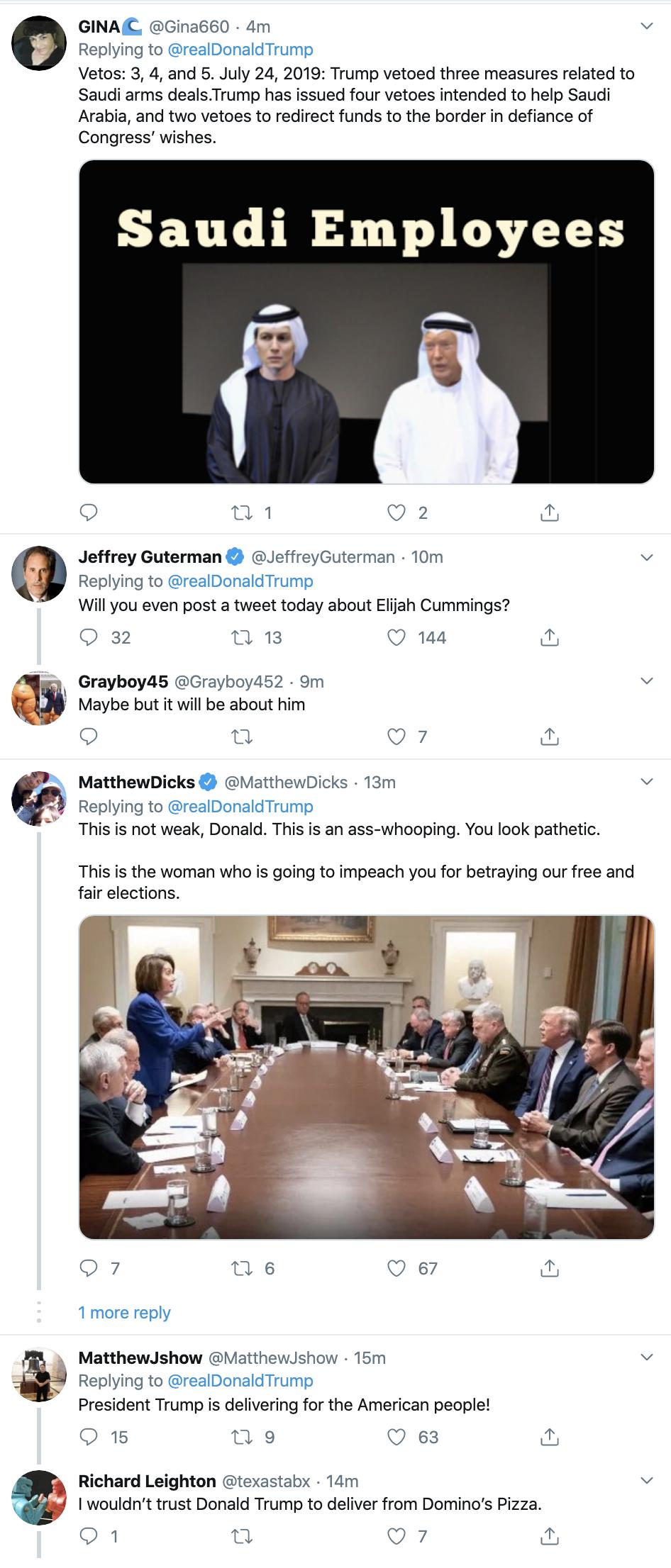 Screen-Shot-2019-10-17-at-7.14.32-AM Trump Has Thursday Morning Multi-Tweet Elijah Cummings Meltdown Corruption Crime Domestic Policy Donald Trump Election 2016 Election 2020 Featured Media Politics Television Top Stories