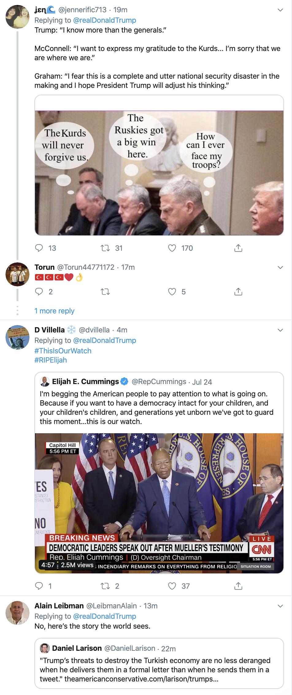 Screen-Shot-2019-10-17-at-7.14.52-AM Trump Has Thursday Morning Multi-Tweet Elijah Cummings Meltdown Corruption Crime Domestic Policy Donald Trump Election 2016 Election 2020 Featured Media Politics Television Top Stories