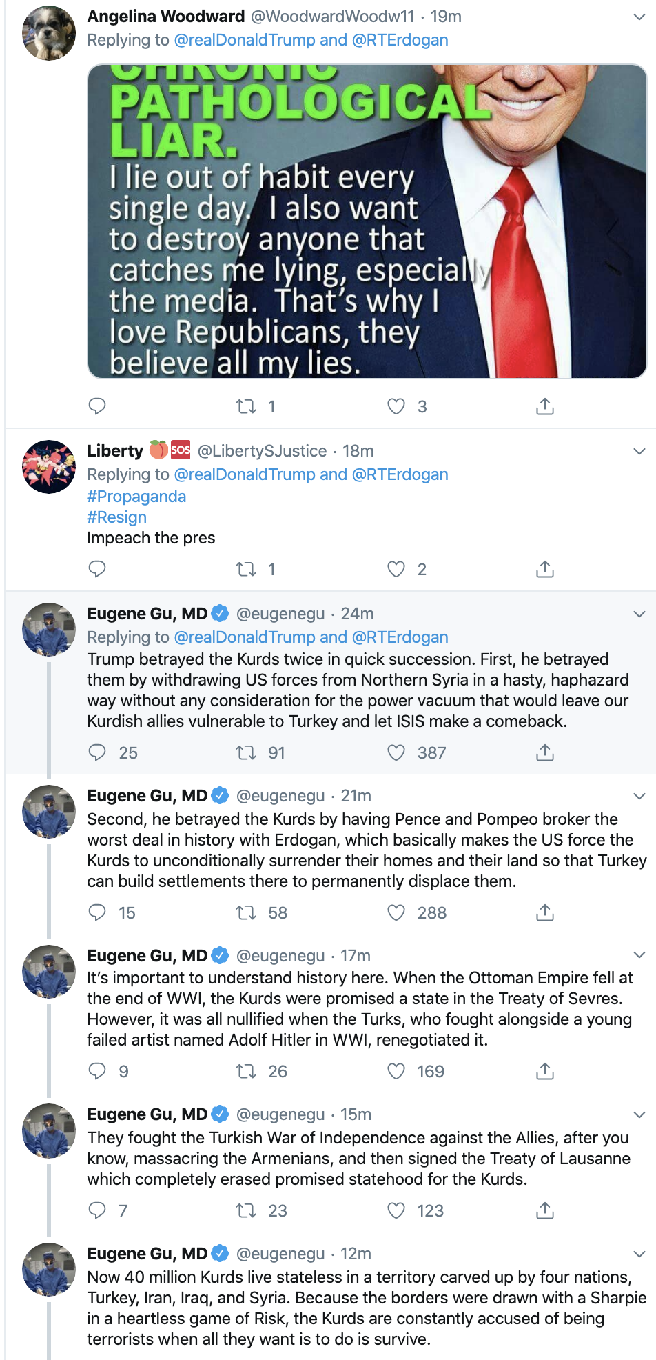 Screen-Shot-2019-10-18-at-11.13.06-AM Trump Has Impeachment Induced 5-Tweet Friday Mental Collapse Corruption Crime Donald Trump Election 2016 Election 2020 Foreign Policy Hate Speech Human Rights Impeachment Mass Shootings National Security Politics Russia Scandal Social Media Top Stories