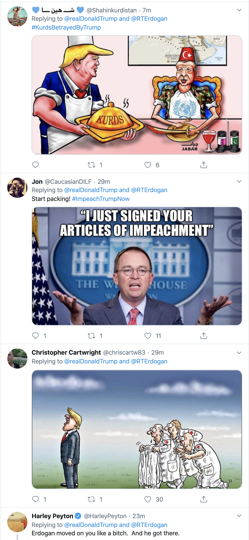 Screen-Shot-2019-10-18-at-11.13.42-AM Trump Has Impeachment Induced 5-Tweet Friday Mental Collapse Corruption Crime Donald Trump Election 2016 Election 2020 Foreign Policy Hate Speech Human Rights Impeachment Mass Shootings National Security Politics Russia Scandal Social Media Top Stories