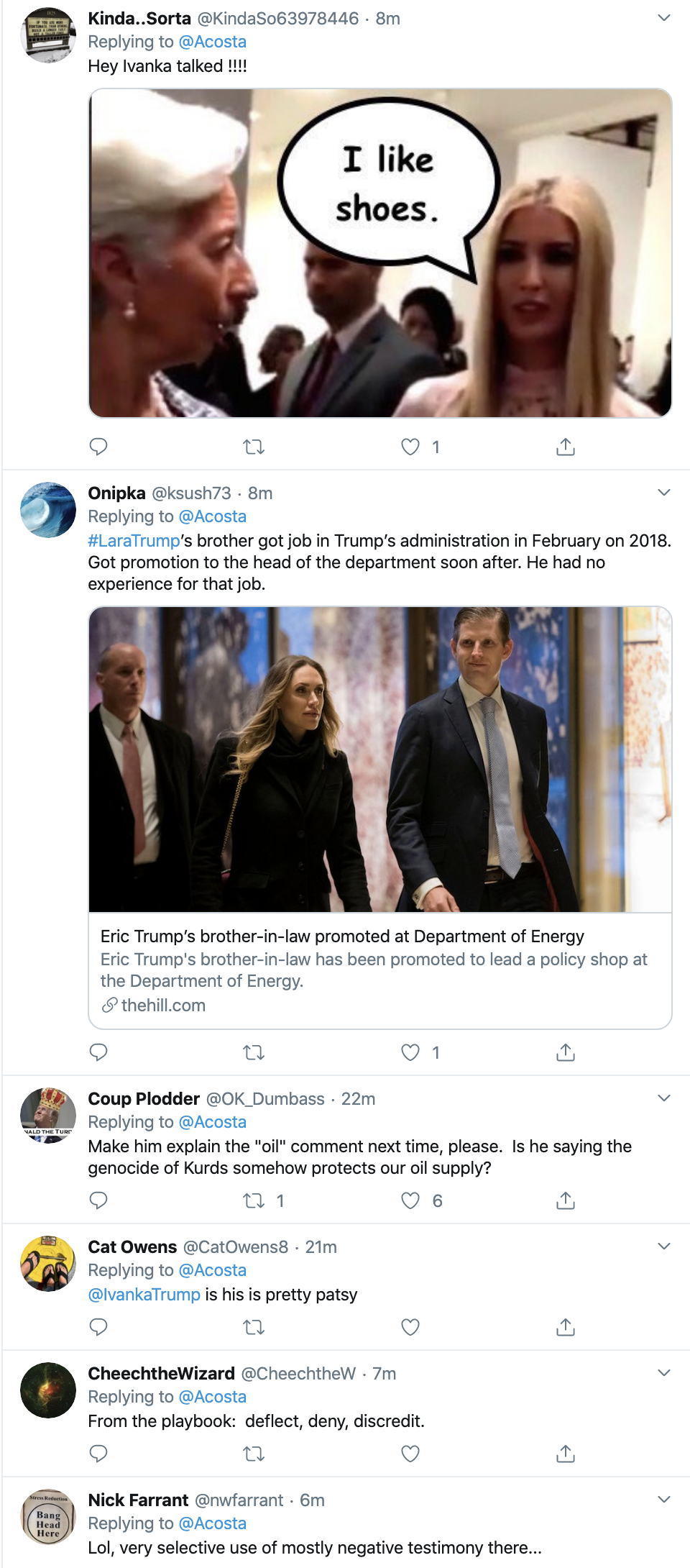 Screen-Shot-2019-10-18-at-12.20.27-PM Acosta Upstages Trump With Friday Afternoon Muti-Tweet Take Down Corruption Crime Domestic Policy Donald Trump Education Election 2016 Election 2020 Featured Feminism History Human Rights Impeachment Investigation Military National Security Politics Racism Terrorism Top Stories War Women's Rights