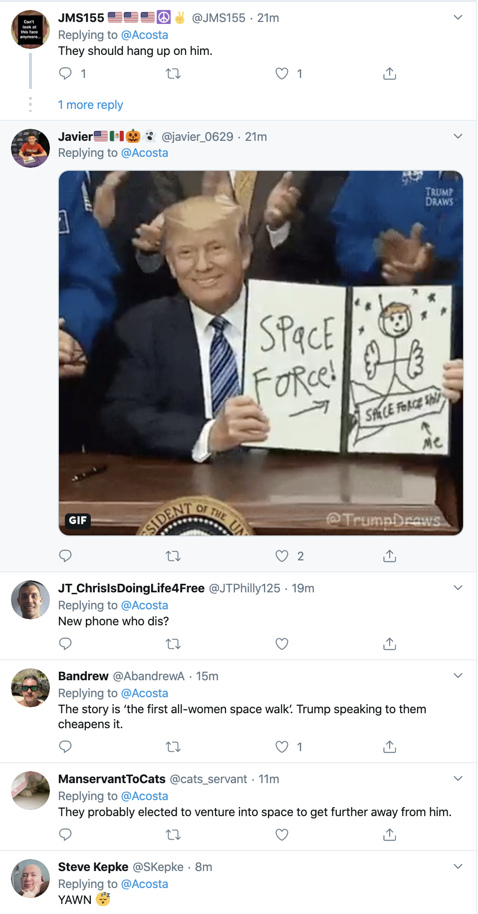 Screen-Shot-2019-10-18-at-12.21.34-PM Acosta Upstages Trump With Friday Afternoon Muti-Tweet Take Down Corruption Crime Domestic Policy Donald Trump Education Election 2016 Election 2020 Featured Feminism History Human Rights Impeachment Investigation Military National Security Politics Racism Terrorism Top Stories War Women's Rights