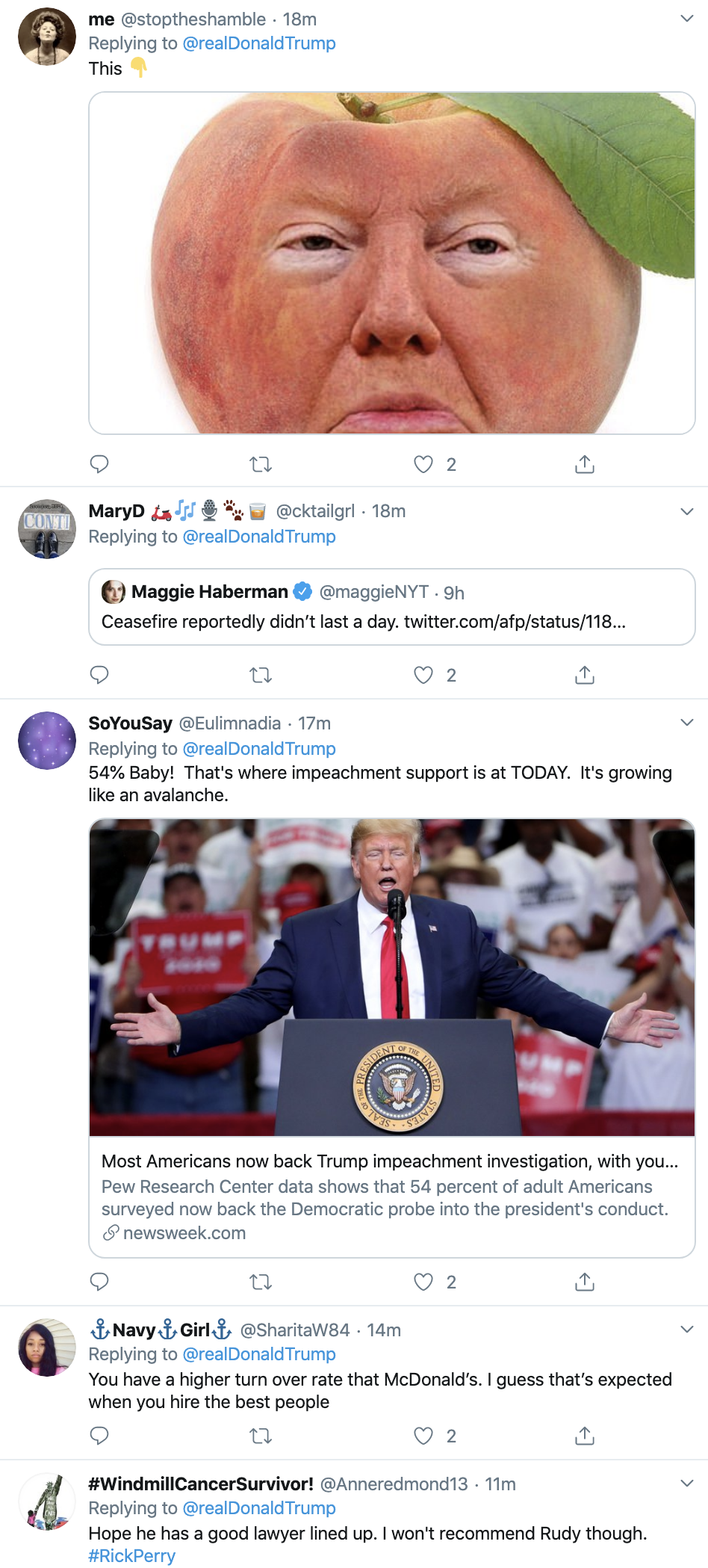 Screen-Shot-2019-10-18-at-2.56.14-PM Trump Has Impeachment Stress Induced Friday Afternoon Freakout Corruption Crime Donald Trump Election 2016 Featured Politics Top Stories