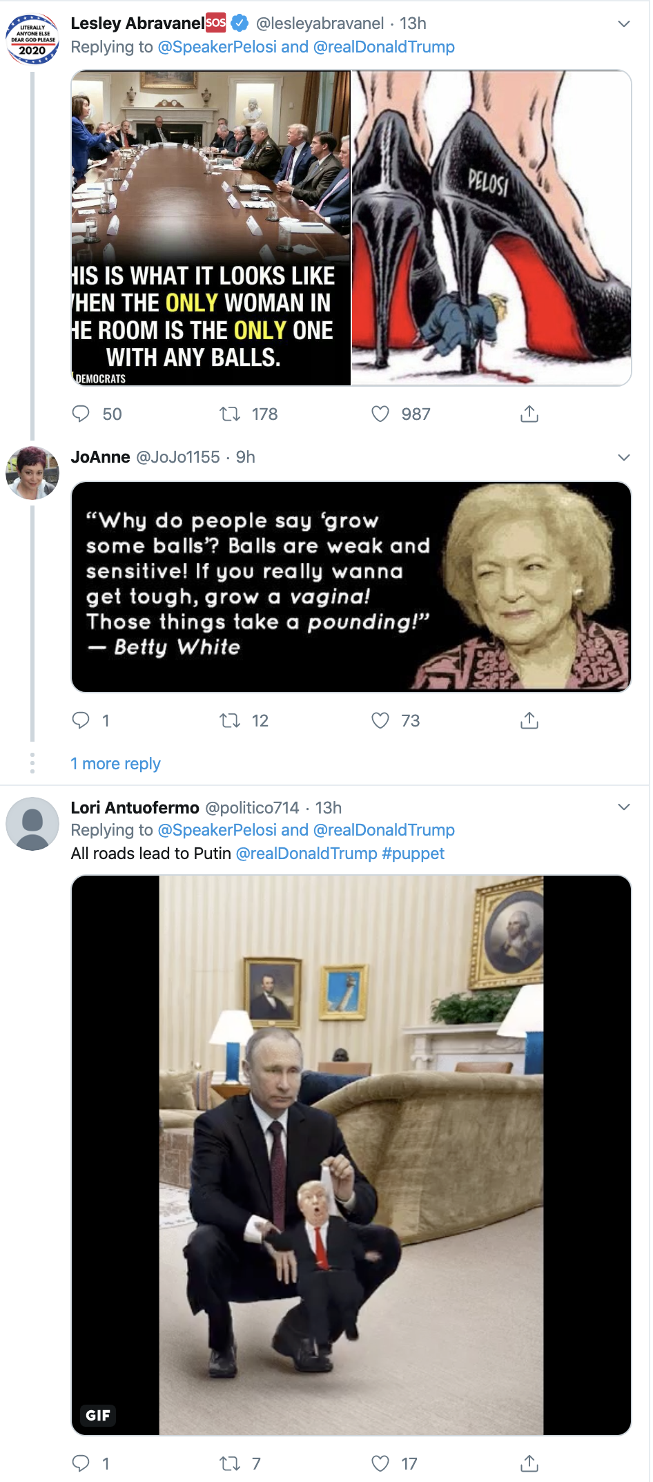 Screen-Shot-2019-10-18-at-8.13.28-AM Pelosi Tags Trump On Twitter & Embarrasses Him In Front Of The World Corruption Crime Domestic Policy Donald Trump Election 2020 Featured Feminism Foreign Policy Impeachment Me Too National Security Politics Russia Sexism Top Stories War