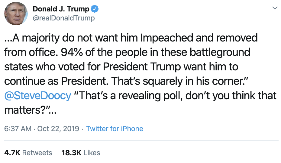 Screen-Shot-2019-10-22-at-7.54.03-AM Trump Calls Impeachment 'A Lynching' In Tuesday AM Outburst Corruption Crime Domestic Policy Donald Trump Election 2016 Election 2020 Featured Hillary Clinton Investigation Islamaphobia Politics Top Stories