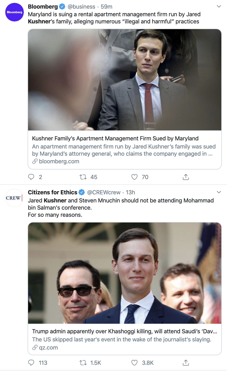 Screen-Shot-2019-10-23-at-12.43.07-PM Attorney General Hits Jared Kushner With Widespread Legal Action Civil Rights Corruption Crime Domestic Policy Donald Trump Featured Healthcare Politics Poverty Racism Scandal Top Stories White Privilege White Supremacy