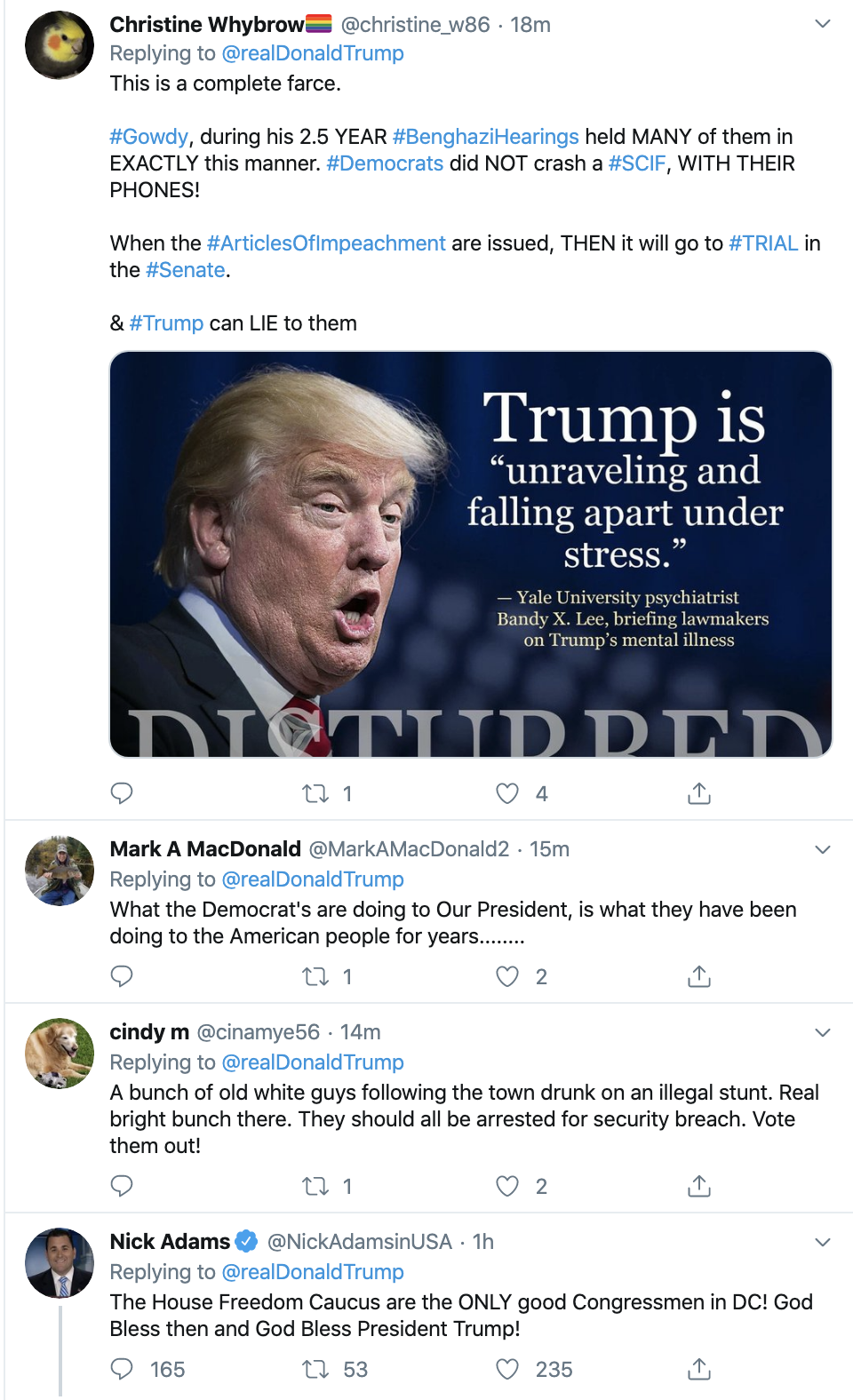 Screen-Shot-2019-10-24-at-10.34.16-AM Trump Proud Of GOP's Illegal Outburst In Closed-Door Meeting Corruption Crime Domestic Policy Donald Trump Election 2020 Featured Impeachment Investigation National Security Politics Top Stories Violence