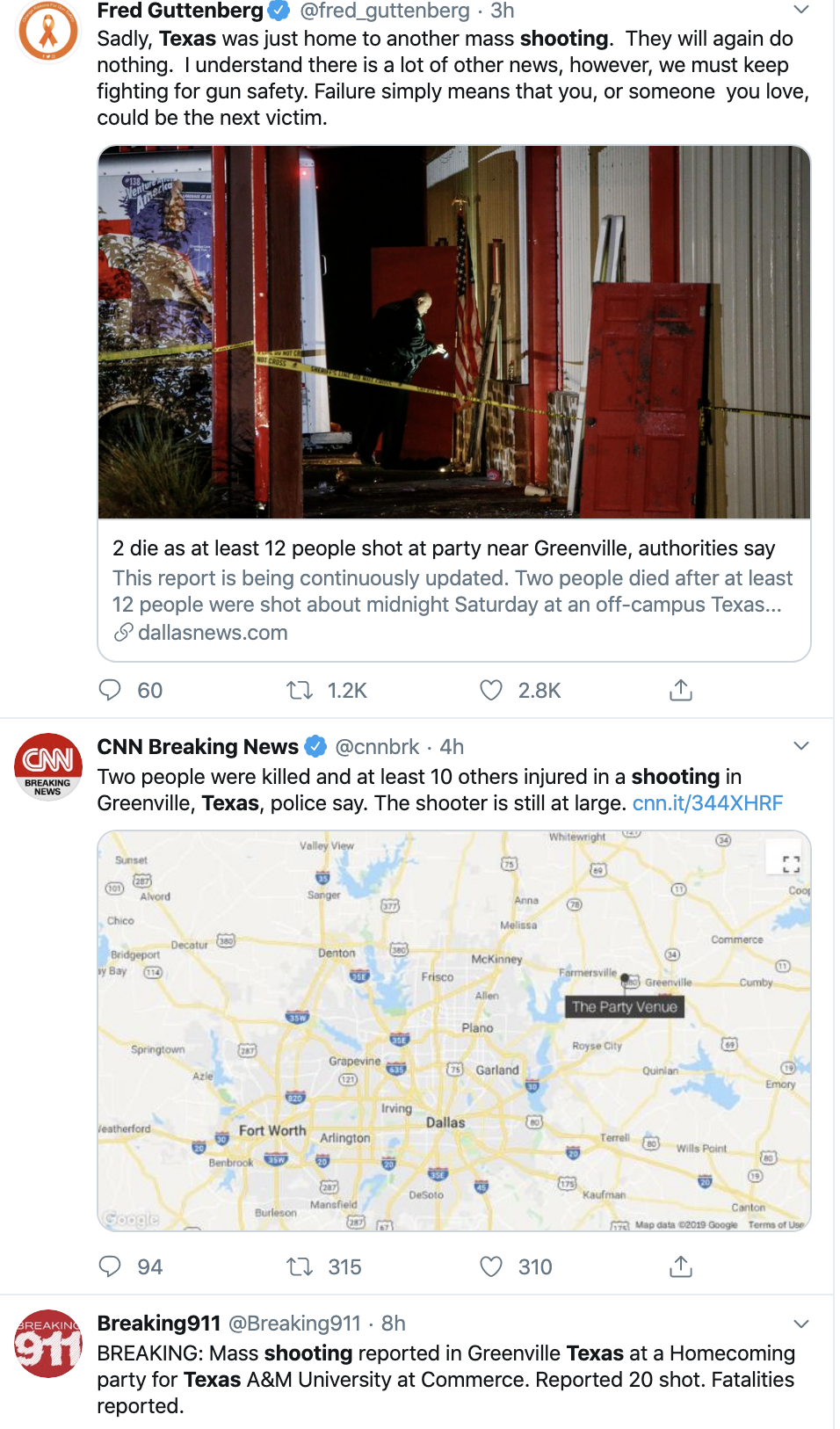 Screen-Shot-2019-10-27-at-10.38.14-AM Horrific Mass Shooting Hits 12 People During Weekend Event Corruption Crime Domestic Policy Election 2020 Featured Gun Control National Security NRA Shooting Top Stories