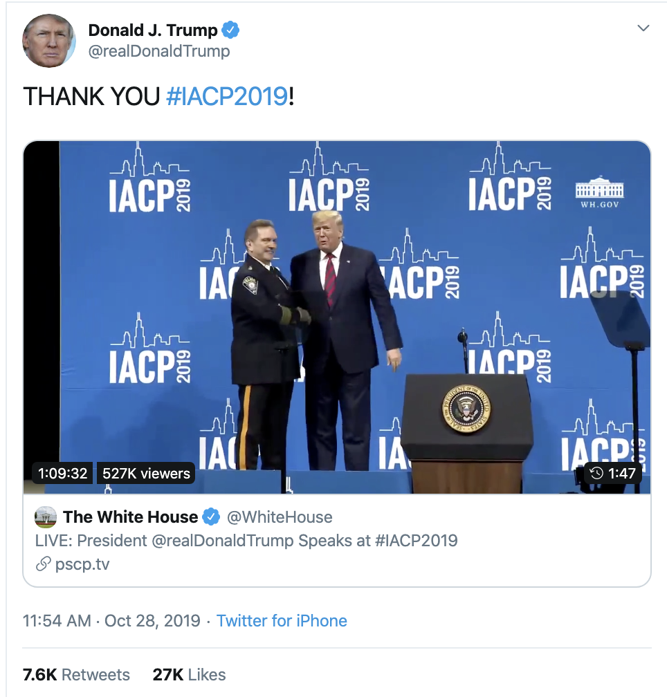 Screen-Shot-2019-10-28-at-3.30.37-PM Trump Goes On Monday Twitter-Spree That Has People Wondering Animal Rights Corruption Crime Domestic Policy Donald Trump Election 2016 Election 2020 Featured Foreign Policy Impeachment Investigation Military Politics Terrorism Top Stories War