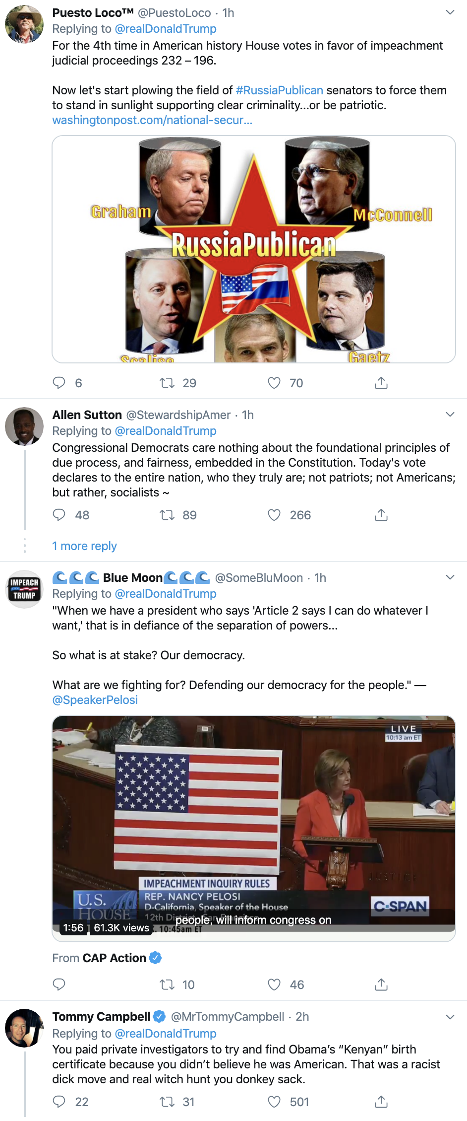 Screen-Shot-2019-10-31-at-12.51.43-PM Trump Throws Major Tantrum Over Impeachment: 'Unhinged,' 'Obsessed,' 'Un-American' Corruption Crime Domestic Policy Donald Trump Election 2020 Featured Foreign Policy Impeachment Investigation National Security Politics Top Stories Violence