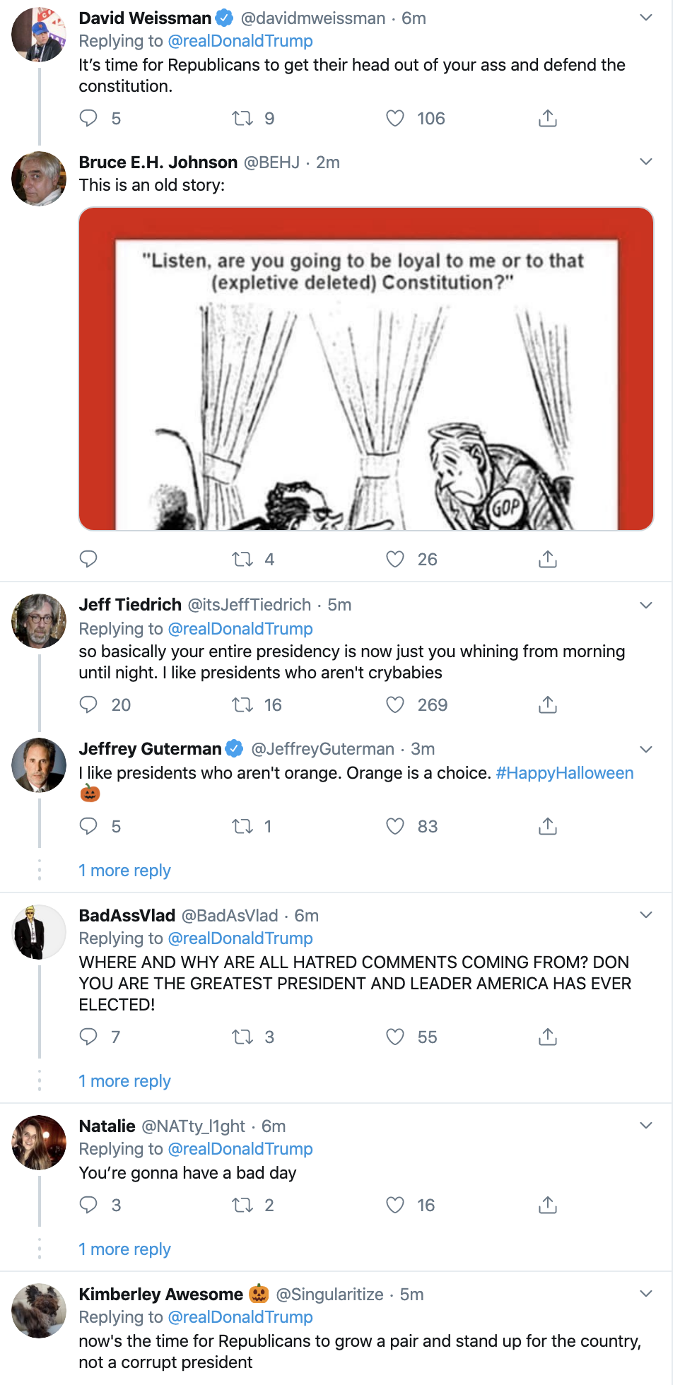 Screen-Shot-2019-10-31-at-7.28.14-AM Trump Has Impeachment Fear Induced 5-Tweet Thursday Meltdown Corruption Crime Domestic Policy Donald Trump Economy Election 2016 Election 2020 Featured Foreign Policy History Impeachment Investigation Media Military National Security Politics Russia Terrorism Top Stories War