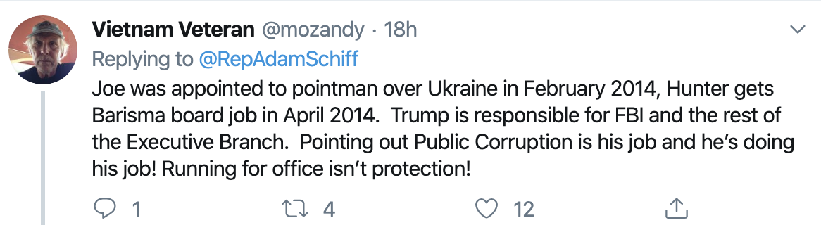 Screen-Shot-2019-10-31-at-8.53.02-AM Schiff Checkmates Trump With Incriminating Tweet Using Donald's Own Words Corruption Crime Domestic Policy Donald Trump Election 2016 Election 2020 Featured Foreign Policy Immigration Impeachment Military National Security Politics Top Stories Twitter War