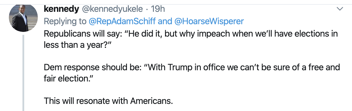 Screen-Shot-2019-10-31-at-8.53.12-AM Schiff Checkmates Trump With Incriminating Tweet Using Donald's Own Words Corruption Crime Domestic Policy Donald Trump Election 2016 Election 2020 Featured Foreign Policy Immigration Impeachment Military National Security Politics Top Stories Twitter War