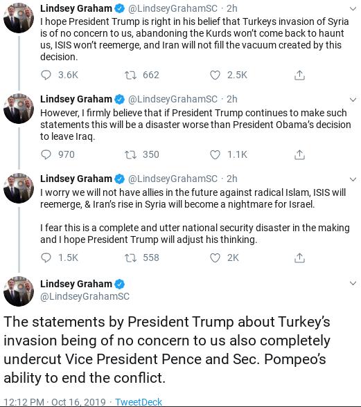 Screenshot-2019-10-16-at-2.19.38-PM Lindsay Graham Has 5-Tweet Anti-Trump Wednesday Meltdown Donald Trump Military National Security Politics Social Media Top Stories