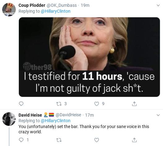 Screenshot-2019-10-16-at-3.22.17-PM Clinton Trolls Trump With Wednesday Tweet To Impeachment Witness Corruption Donald Trump Impeachment Politics Social Media Top Stories