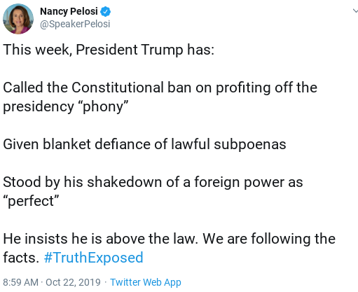 Screenshot-2019-10-22-at-2.58.38-PM Pelosi Issues Fierce Takedown Of Trump After Latest Meltdowns Corruption Donald Trump Politics Top Stories