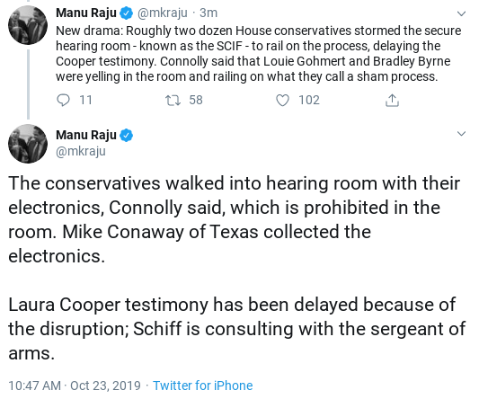 Screenshot-2019-10-23-at-10.50.29-AM Gaetz Attempts To Storm Wednesday Hearing & Suffers Instant Fail Corruption Donald Trump Impeachment Politics Top Stories