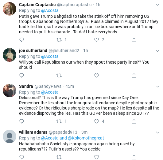 Screenshot-2019-10-31-at-1.04.48-PM Jim Acosta Upstages 'Delusional' Trump With Thursday Tweet Trolling Corruption Donald Trump Impeachment Politics Social Media Top Stories