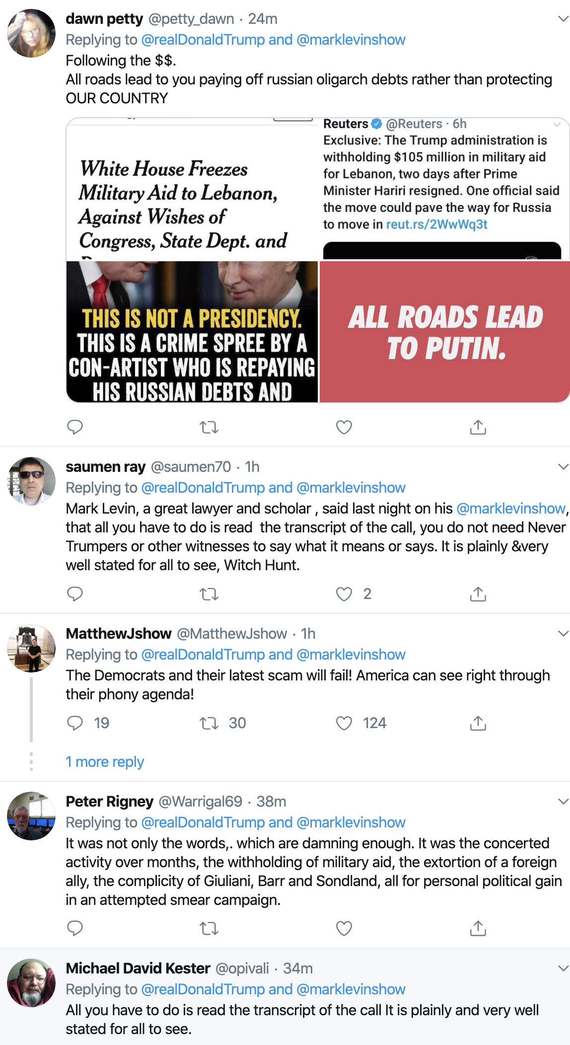 Screen-Shot-2019-11-04-at-7.10.11-AM Trump's Monday AM Twitter Freakout Is Way Crazier Than Usual (IMAGES) Conspiracy Theory Corruption Crime Domestic Policy Donald Trump Election 2020 Featured Impeachment Investigation National Security Politics Russia Terrorism Top Stories Violence White Supremacy