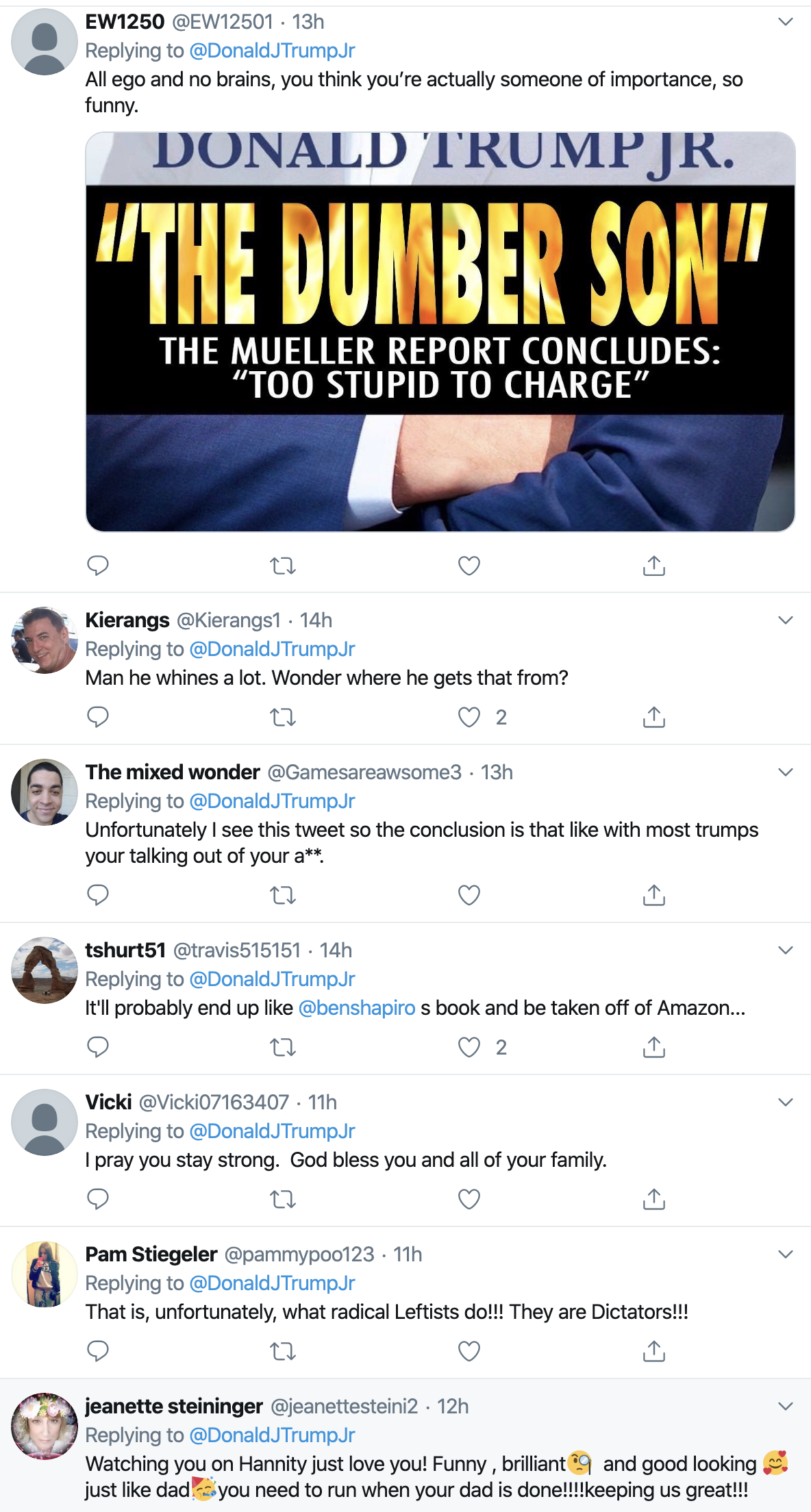 Screen-Shot-2019-11-05-at-8.53.08-AM Don Jr. Attacks Hillary In New Book - GOP Clowns Applaud Conspiracy Theory Corruption Crime Domestic Policy Donald Trump Election 2016 Election 2020 Featured Foreign Policy Impeachment Investigation Mueller National Security Politics Robert Mueller Russia Top Stories
