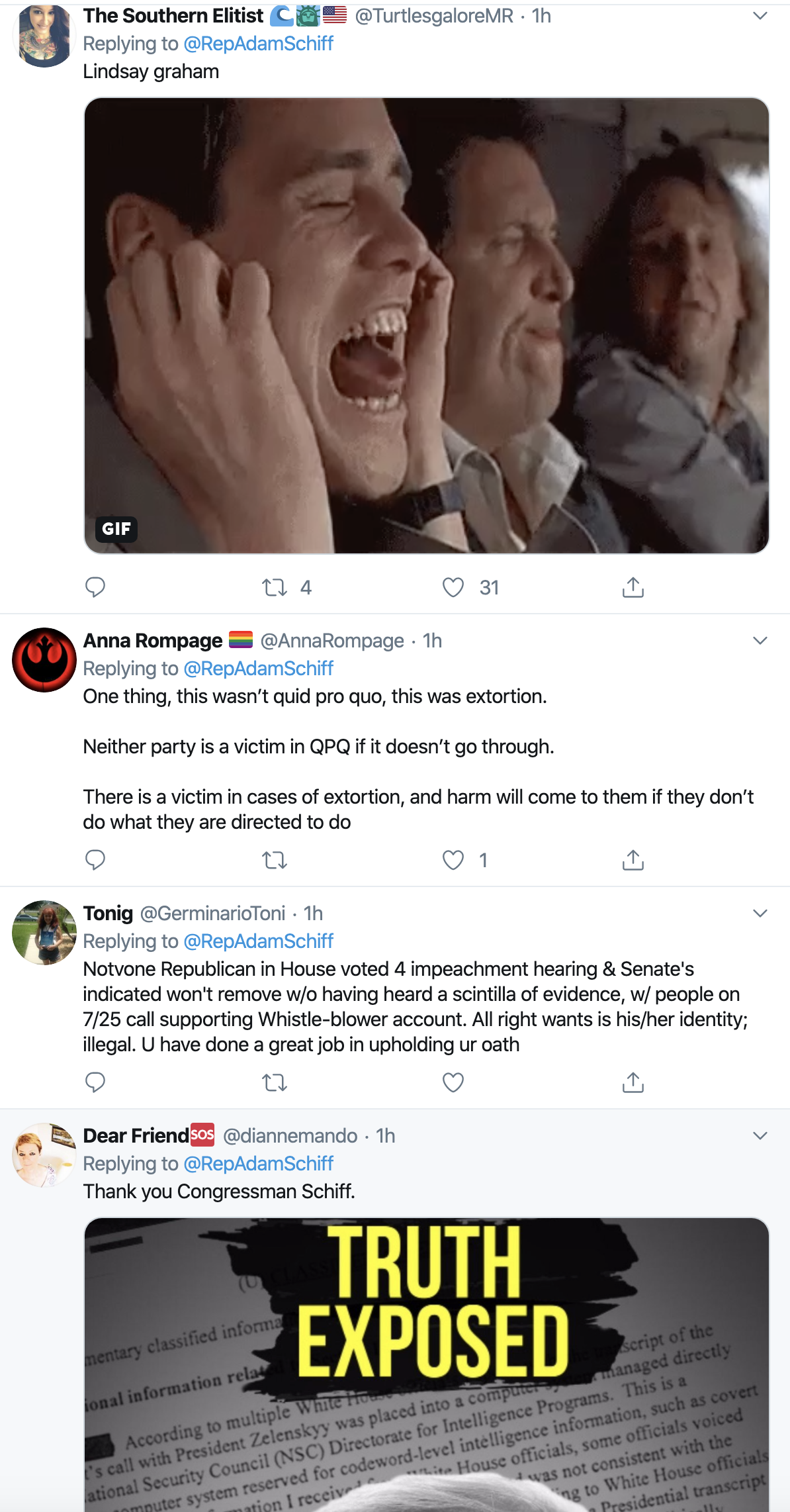 Screen-Shot-2019-11-06-at-11.43.54-AM Adam Schiff Tweets Ominous Wednesday Message To Trump And GOP Corruption Crime Donald Trump Election 2016 Election 2020 Featured Impeachment Investigation National Security Russia Top Stories