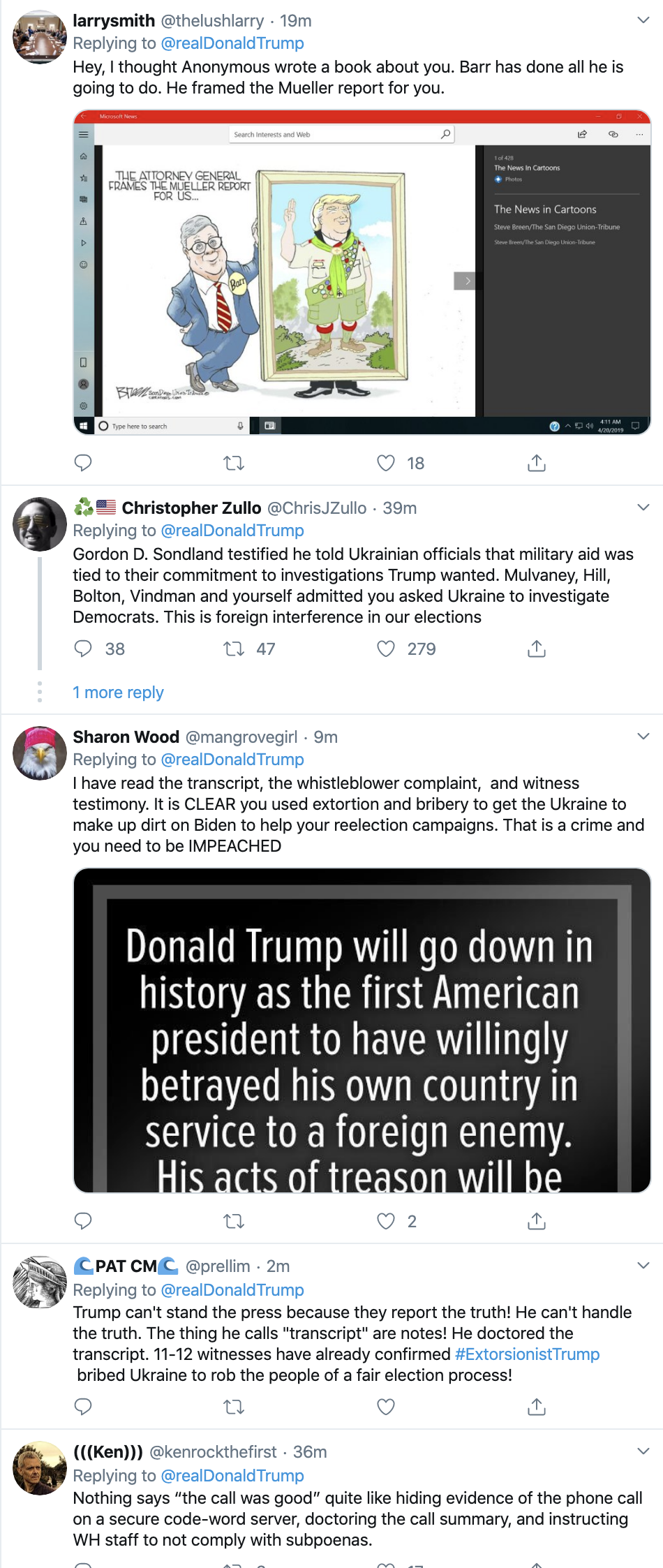 Screen-Shot-2019-11-07-at-7.09.25-AM Trump Slips Up Big Time In Thursday AM Twitter Word Scramble Corruption Crime Donald Trump Election 2020 Fact-Checker Featured Foreign Policy Impeachment Investigation Islamaphobia Military National Security Politics Social Media Top Stories War