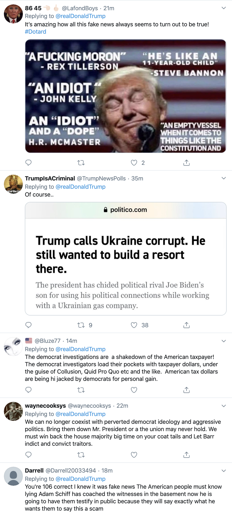 Screen-Shot-2019-11-07-at-7.09.44-AM Trump Slips Up Big Time In Thursday AM Twitter Word Scramble Corruption Crime Donald Trump Election 2020 Fact-Checker Featured Foreign Policy Impeachment Investigation Islamaphobia Military National Security Politics Social Media Top Stories War