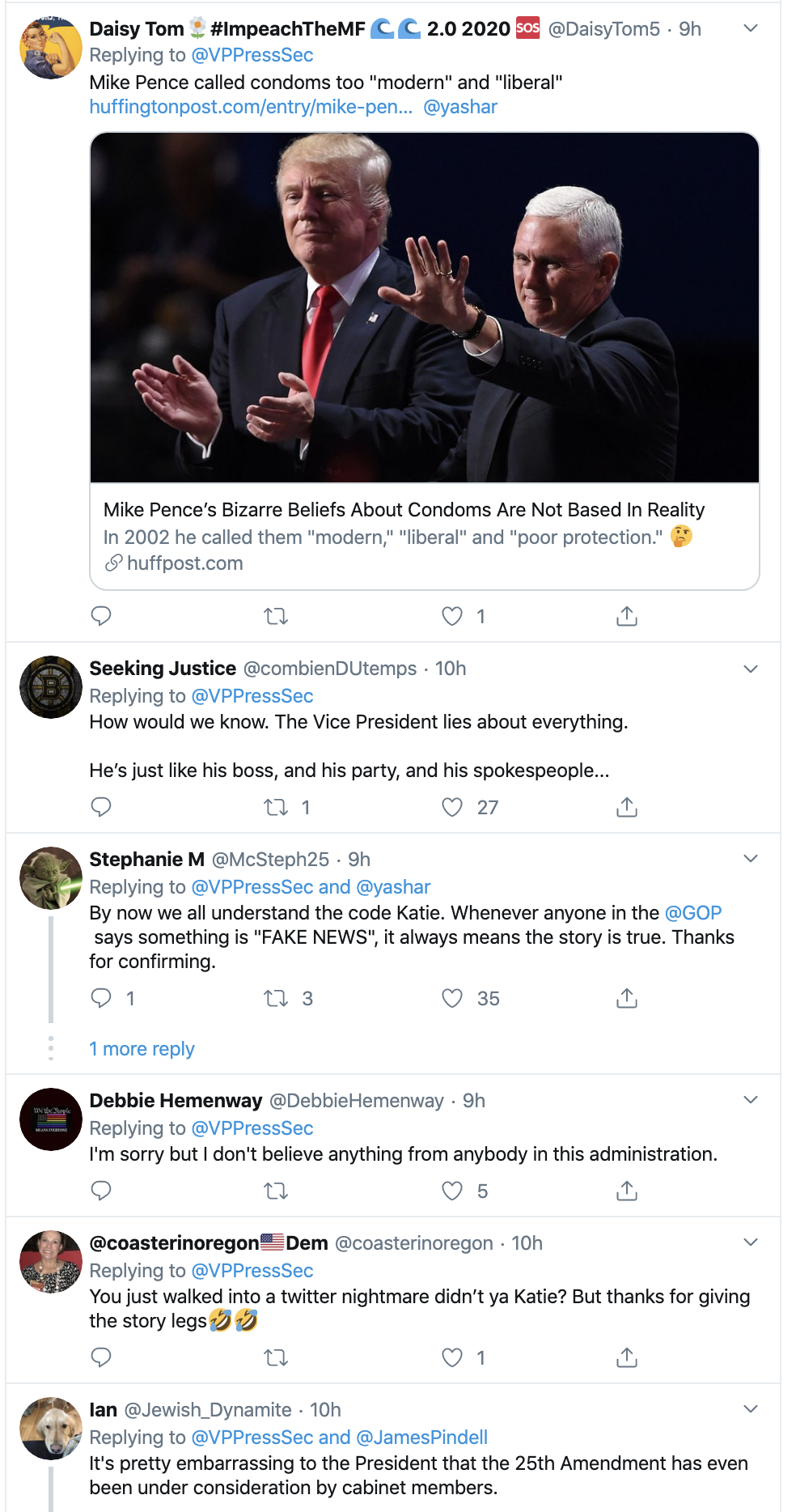 Screen-Shot-2019-11-07-at-8.06.15-AM Pence Team Responds To Claim VP Will Support Impeachment Corruption Crime Domestic Policy Election 2016 Election 2020 Featured Healthcare Impeachment Investigation Mental Illness National Security Top Stories