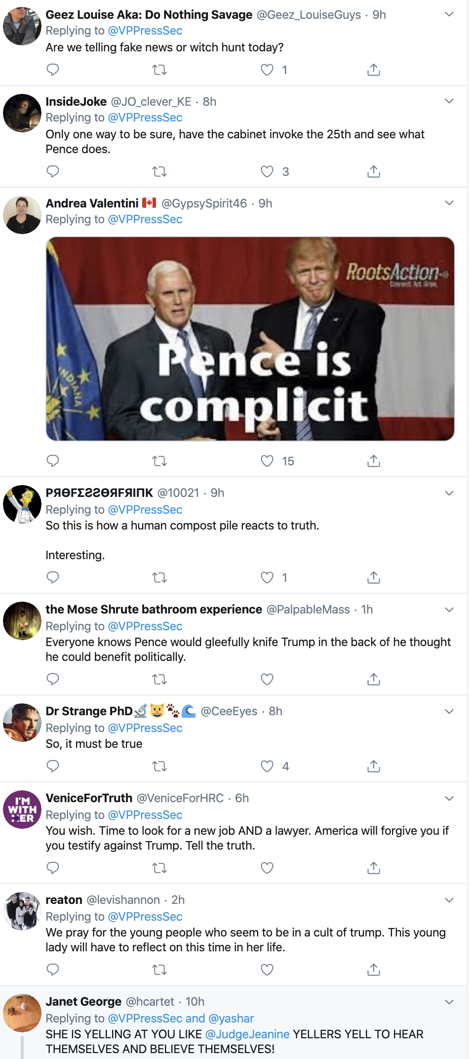Screen-Shot-2019-11-07-at-8.07.19-AM Pence Team Responds To Claim VP Will Support Impeachment Corruption Crime Domestic Policy Election 2016 Election 2020 Featured Healthcare Impeachment Investigation Mental Illness National Security Top Stories