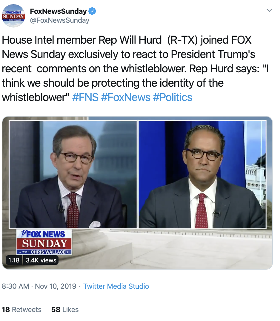 Screen-Shot-2019-11-10-at-11.26.44-AM GOP Intel Committee Member Betrays Trump During Sunday Interview Conspiracy Theory Corruption Crime Donald Trump Election 2016 Election 2020 Featured Foreign Policy History Impeachment Investigation Military National Security Politics Terrorism Top Stories War