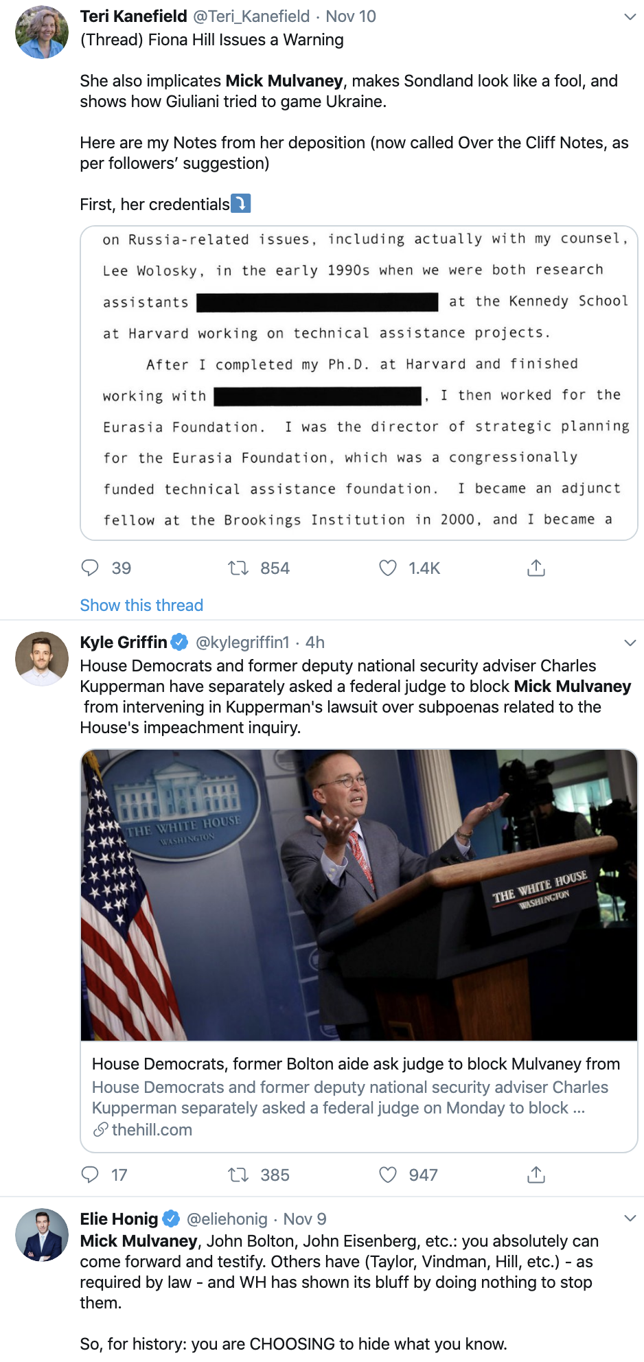 Screen-Shot-2019-11-11-at-7.05.05-PM Mulvaney Pulls Desperate Monday Tactics To Avoid Testimony Corruption Crime Domestic Policy Donald Trump Election 2020 Featured Foreign Policy Impeachment Investigation Military National Security Politics Top Stories War