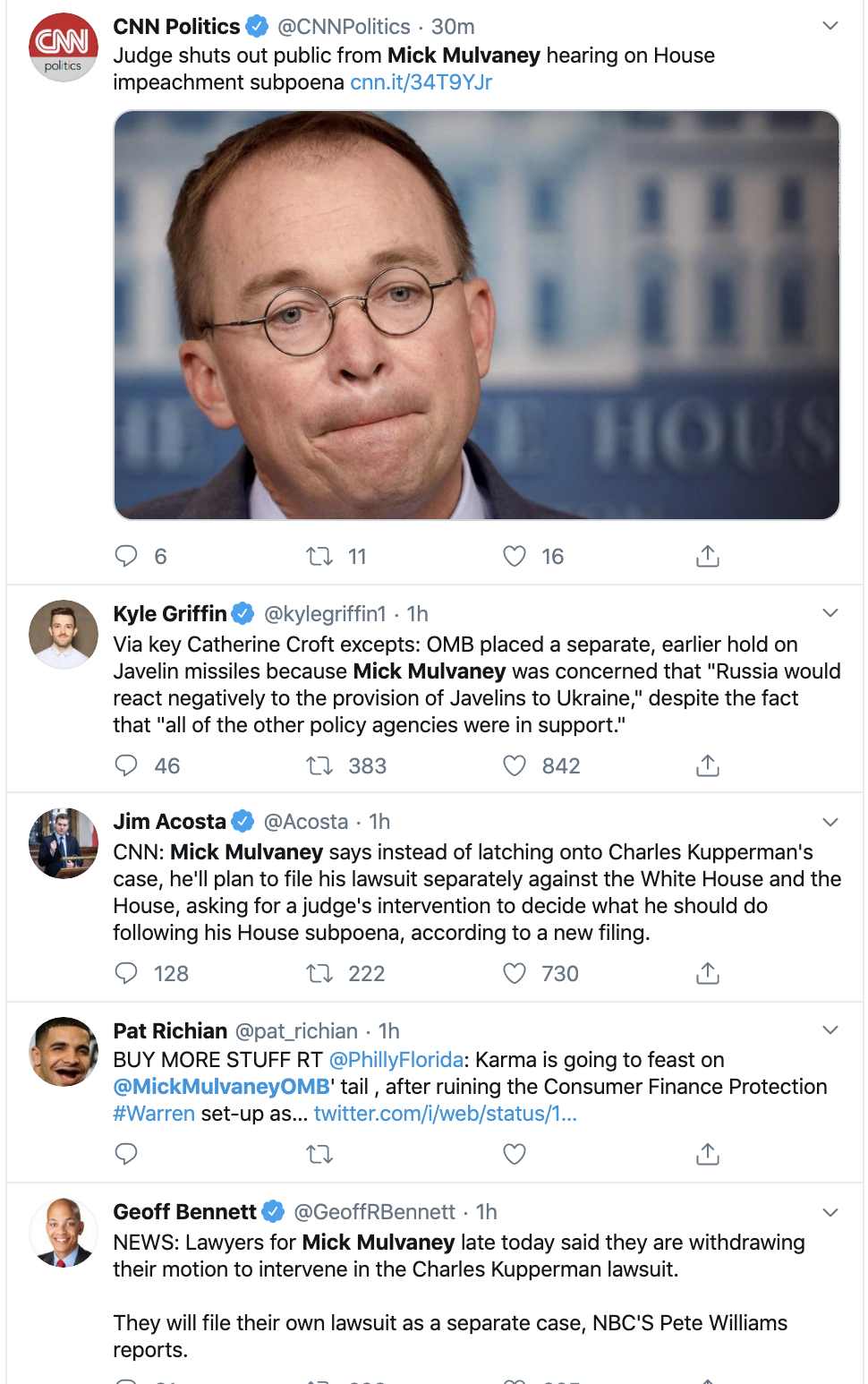 Screen-Shot-2019-11-11-at-7.05.25-PM Mulvaney Pulls Desperate Monday Tactics To Avoid Testimony Corruption Crime Domestic Policy Donald Trump Election 2020 Featured Foreign Policy Impeachment Investigation Military National Security Politics Top Stories War