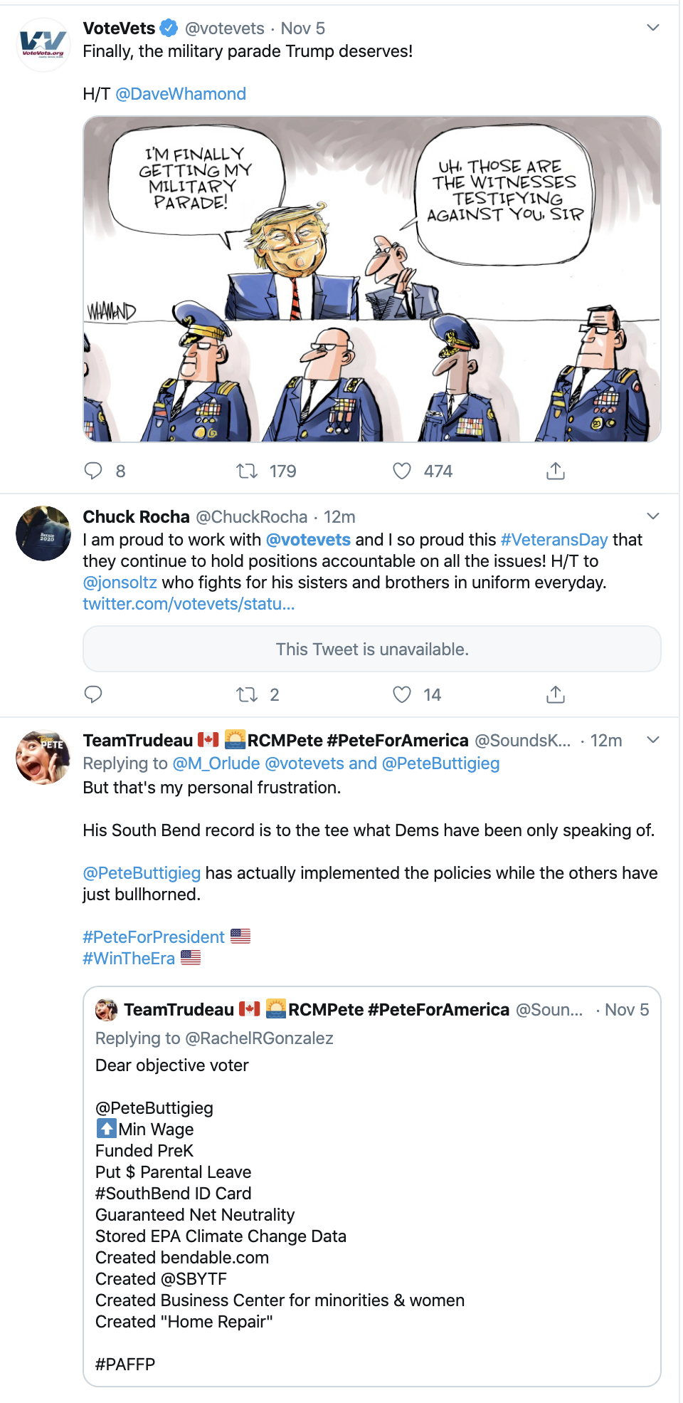 Screen-Shot-2019-11-11-at-8.40.33-AM Veterans Group Trolls Fake Patriot Trump On Twitter Corruption Crime Domestic Policy Donald Trump Election 2016 Election 2020 Featured Foreign Policy History Immigration Impeachment Military Politics Top Stories Veterans War