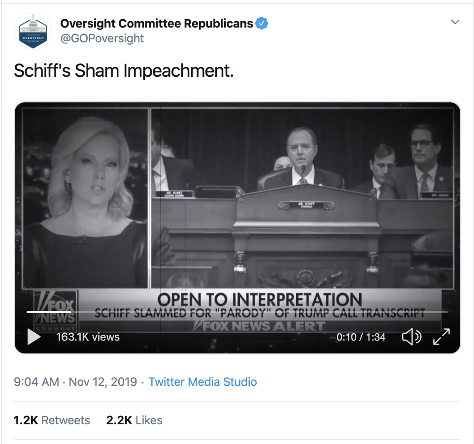 Screen-Shot-2019-11-12-at-10.01.46-AM Trump Just Tweeted Ominous Black & White Brainwashing Video Corruption Crime Domestic Policy Donald Trump Election 2016 Election 2020 Featured Foreign Policy Impeachment Investigation National Security Politics Robert Mueller Top Stories