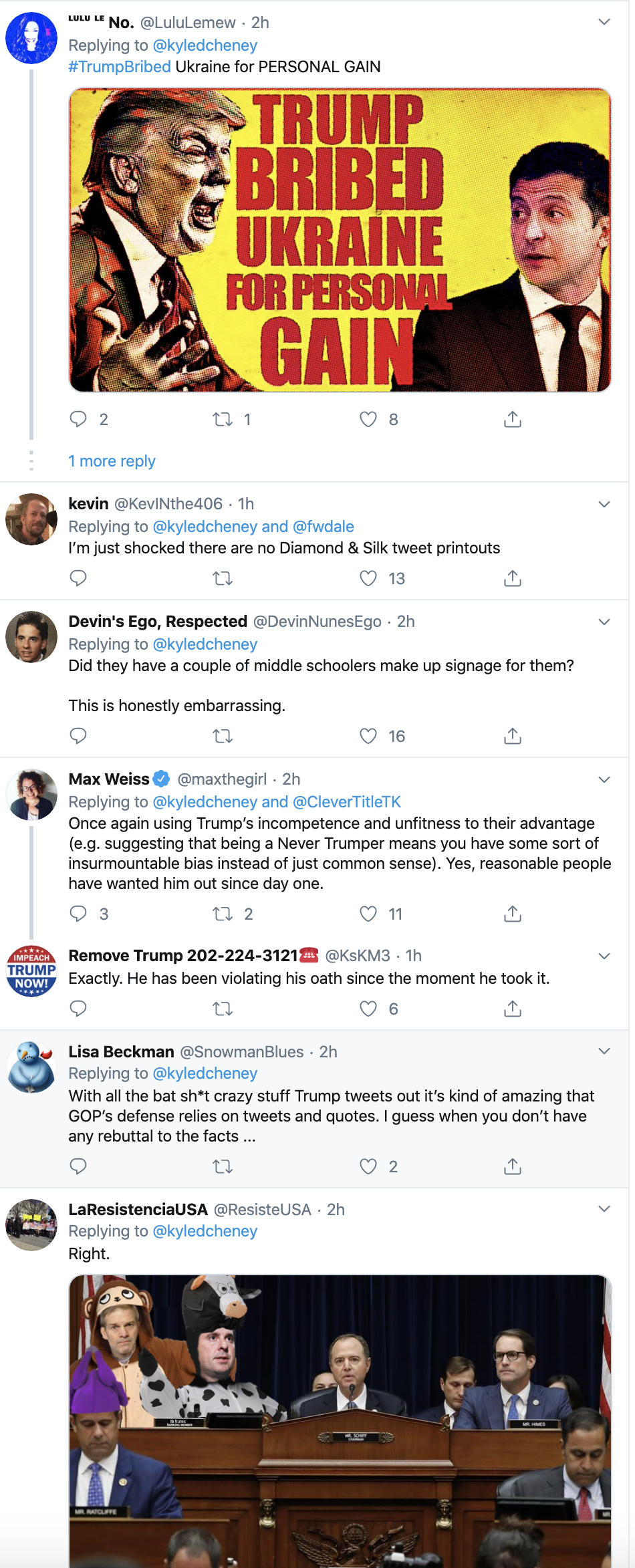 Screen-Shot-2019-11-13-at-10.22.46-AM GOP Paints Impeachment Room With Shameful Propaganda Conspiracy Theory Corruption Crime Donald Trump Election 2016 Election 2020 Featured Foreign Policy Impeachment Investigation Military National Security Politics Russia Television Top Stories