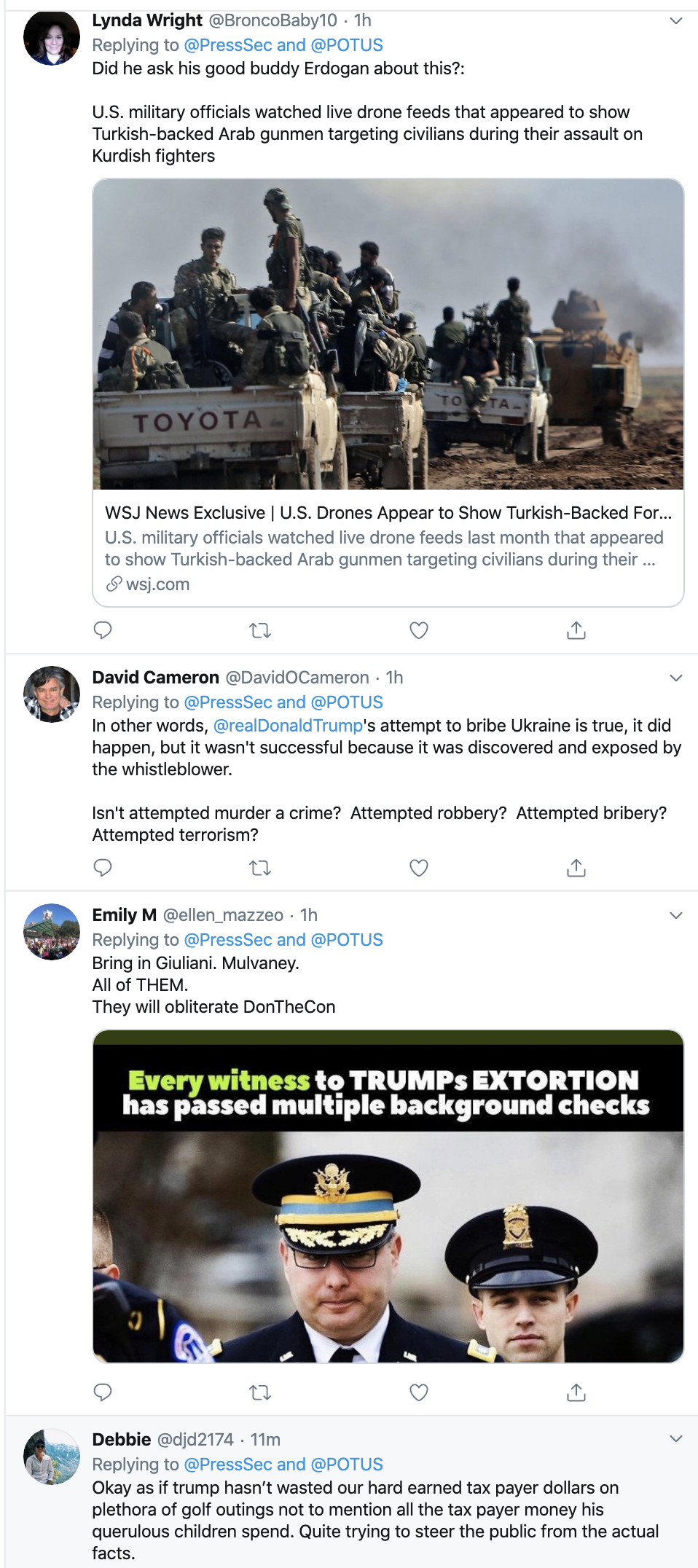 Screen-Shot-2019-11-13-at-3.24.48-PM Trump Flips Out During WH Meeting With Turkish Leader Corruption Crime Donald Trump Election 2020 Featured Foreign Policy Impeachment Investigation Military Politics Russia Terrorism Top Stories Videos War