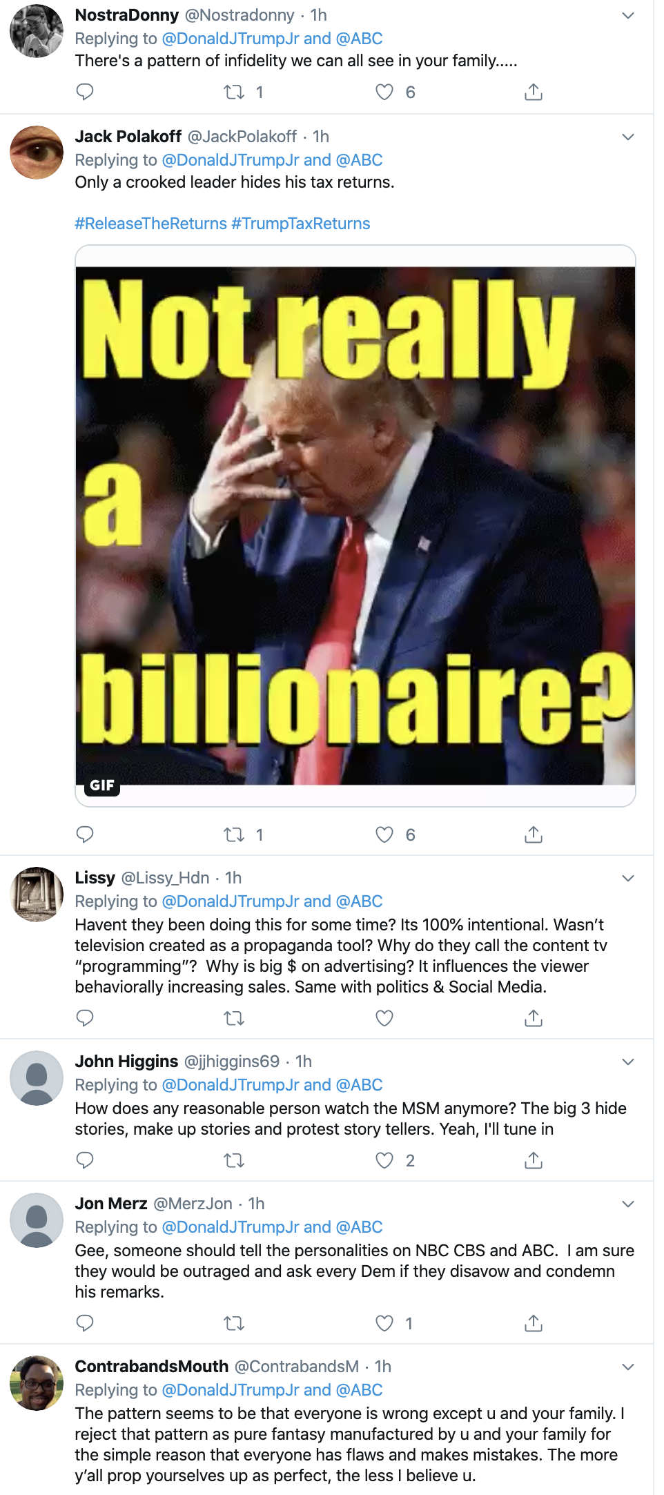 Screen-Shot-2019-11-14-at-3.19.54-PM Don Jr. Is Going Thursday-Crazy On Twitter Over Impeachment Corruption Crime Domestic Policy Donald Trump Election 2016 Election 2020 Featured Feminism Foreign Policy Impeachment Investigation Me Too Media Politics Social Media Television Top Stories Women's Rights