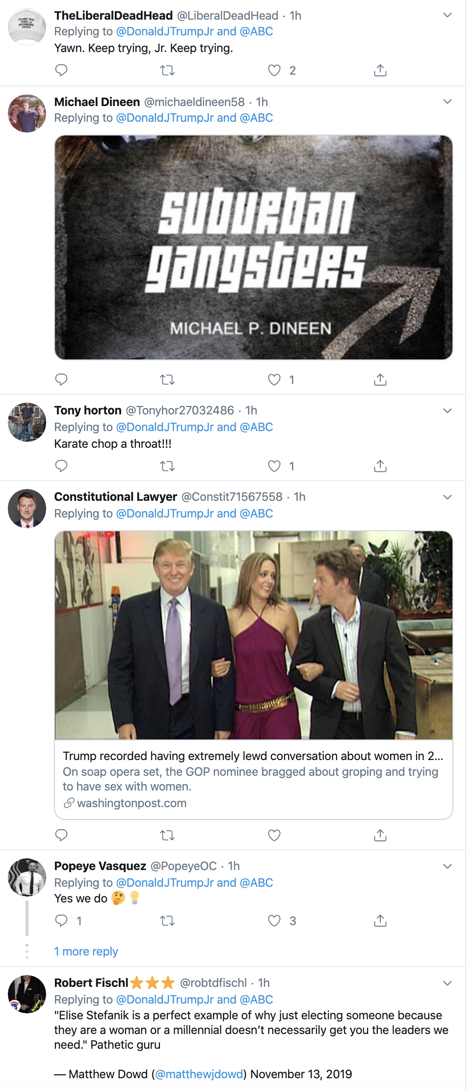 Screen-Shot-2019-11-14-at-3.20.55-PM Don Jr. Is Going Thursday-Crazy On Twitter Over Impeachment Corruption Crime Domestic Policy Donald Trump Election 2016 Election 2020 Featured Feminism Foreign Policy Impeachment Investigation Me Too Media Politics Social Media Television Top Stories Women's Rights