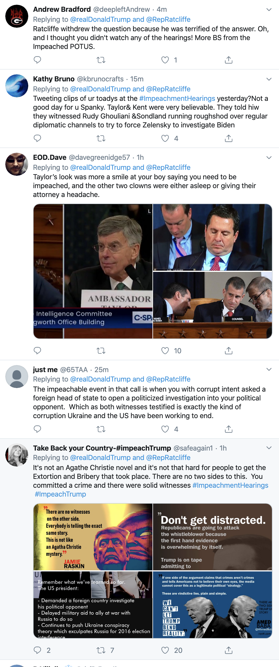 Screen-Shot-2019-11-14-at-7.18.42-AM Trump Goes On Pre-Dawn Conspiracy-Laden Twitter Spree Conspiracy Theory Corruption Crime Domestic Policy Donald Trump Election 2016 Election 2020 Featured Foreign Policy History Impeachment Investigation Military National Security Politics Russia Television Top Stories War