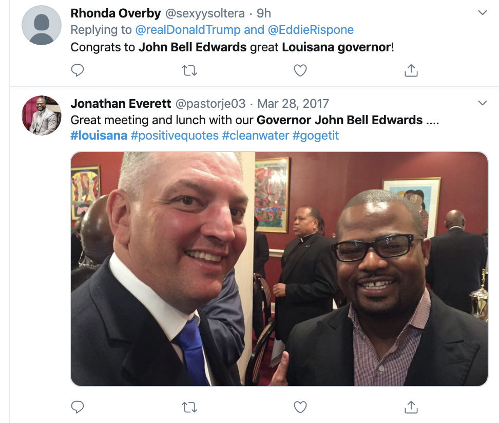 Screen-Shot-2019-11-17-at-8.18.22-AM Thousands Troll Trump Over Louisiana Governor Election Loss Domestic Policy Donald Trump Election 2018 Election 2020 Featured Politics Top Stories