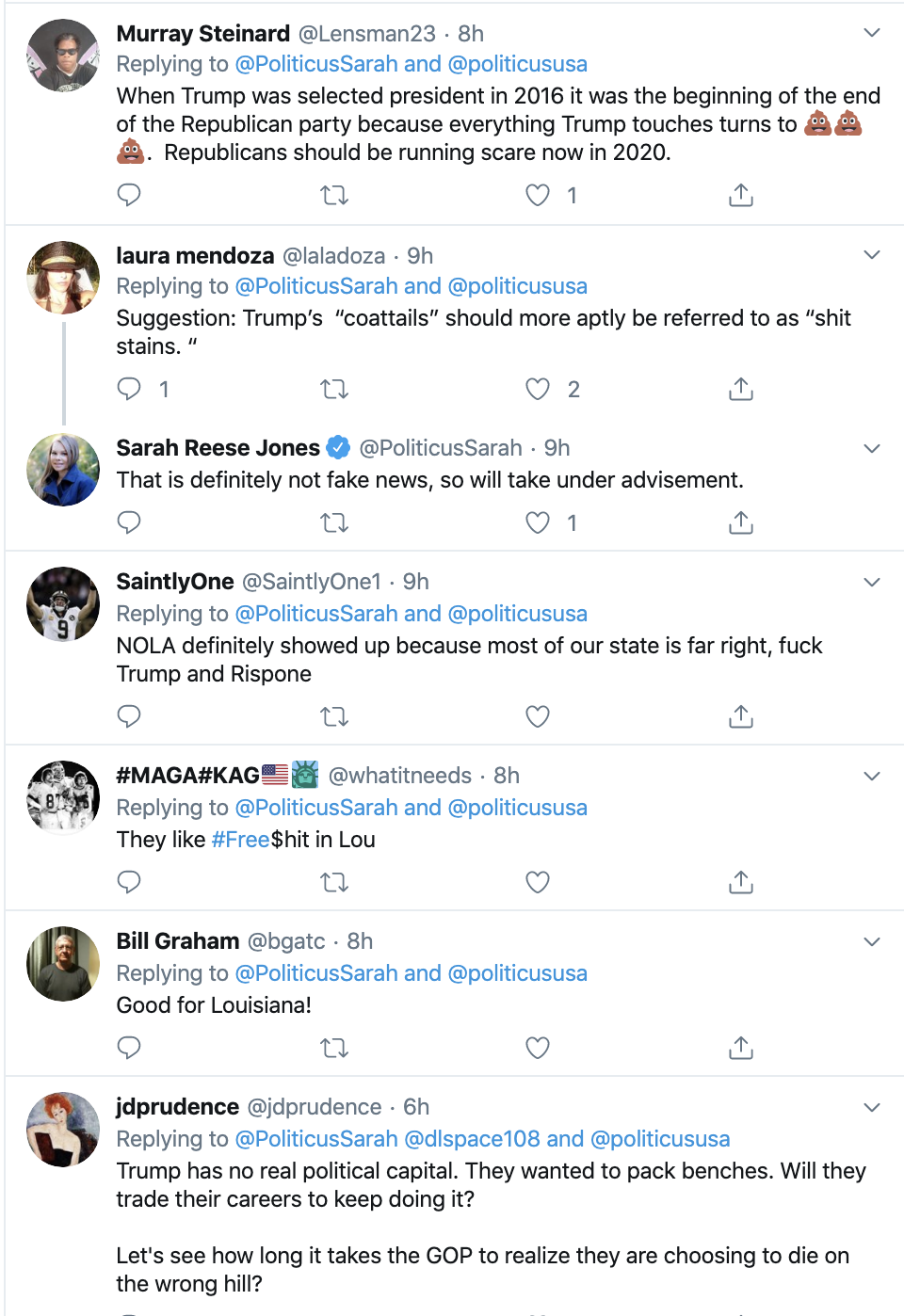 Screen-Shot-2019-11-17-at-8.23.48-AM Thousands Troll Trump Over Louisiana Governor Election Loss Domestic Policy Donald Trump Election 2018 Election 2020 Featured Politics Top Stories