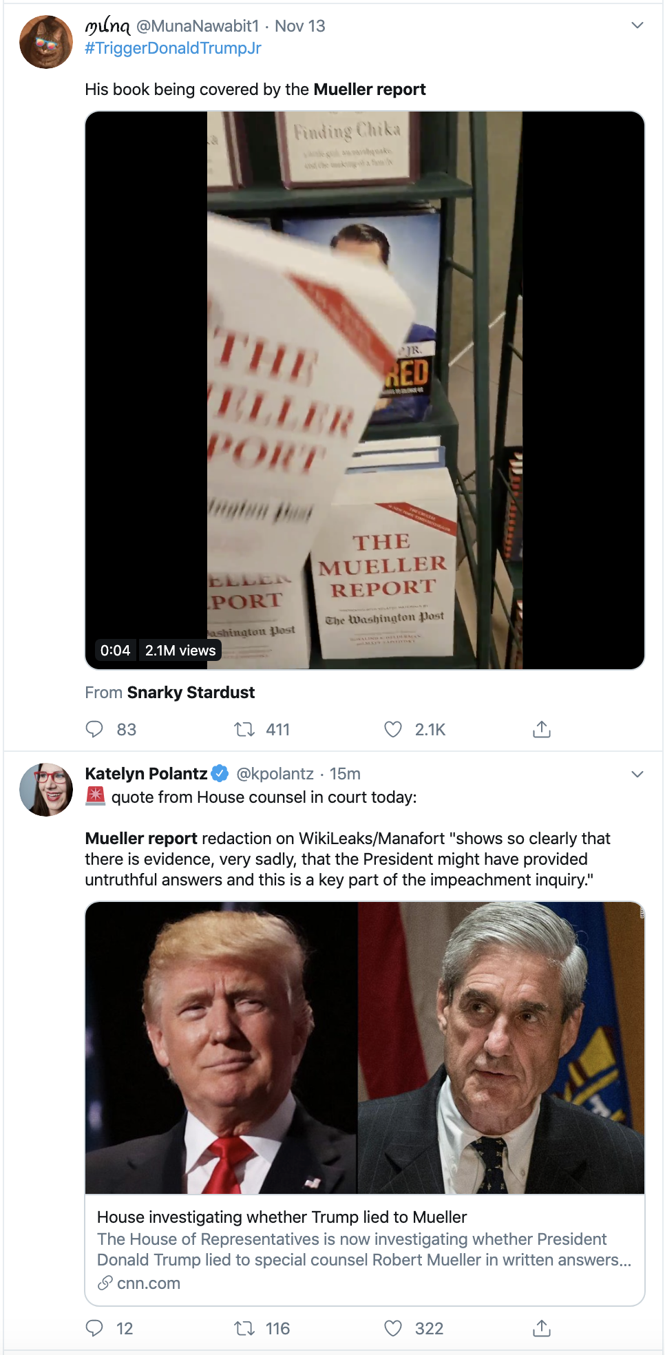 Screen-Shot-2019-11-18-at-12.45.02-PM Democrats Open New Trump/Mueller Investigation Crime Donald Trump Election 2016 Election 2020 Featured Foreign Policy History Impeachment Investigation Mueller National Security Politics Russia Terrorism Top Stories Violence