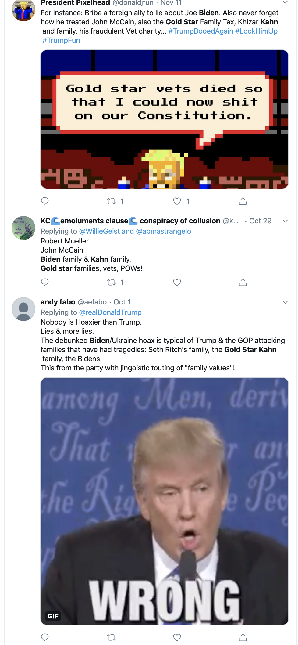 Screen-Shot-2019-11-18-at-2.18.16-PM Fallen Soldier's Family Disrespected By Trump Names 2020 Endorsement Activism Corruption Crime Domestic Policy Donald Trump Election 2016 Election 2020 Featured Foreign Policy Impeachment Investigation Islamaphobia Military National Security Politics Protest Racism Top Stories Veterans War