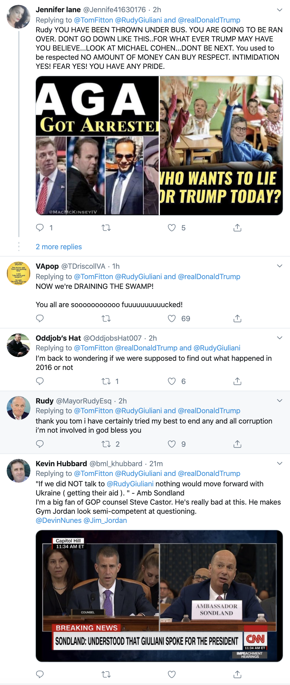 Screen-Shot-2019-11-20-at-11.03.20-AM-1 Trump Snaps & Tweets 7 Times During Sondland Testimony Corruption Donald Trump Featured Impeachment Top Stories