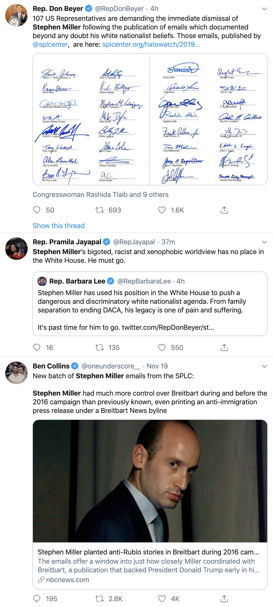 Screen-Shot-2019-11-21-at-3.13.31-PM 100+ Dems Demand Trump Fire White Nationalist Stephen Miller Child Abuse Corruption Crime Immigration Top Stories