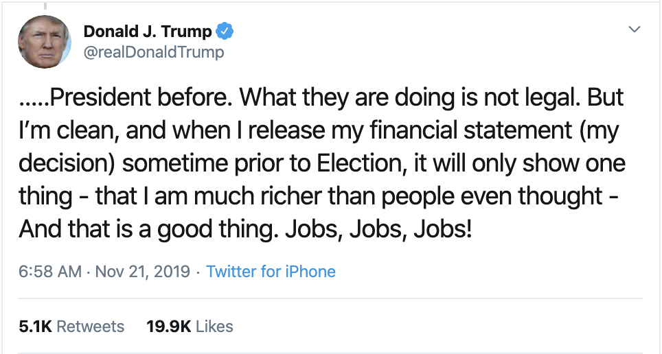 Screen-Shot-2019-11-21-at-8.18.54-AM Trump Desperately Tweeting Distractions Like A Scared Criminal Corruption Donald Trump Investigation Supreme Court Top Stories